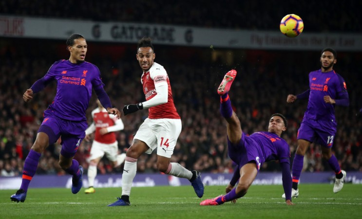 Liverpool Arsenal Aubameyang Van Dijk