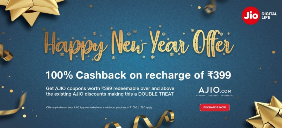 Reliance Jio, Happy New Year, offer, full cash back