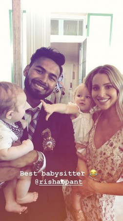 Rishabh Pant Tim Paine Bonnie Paine