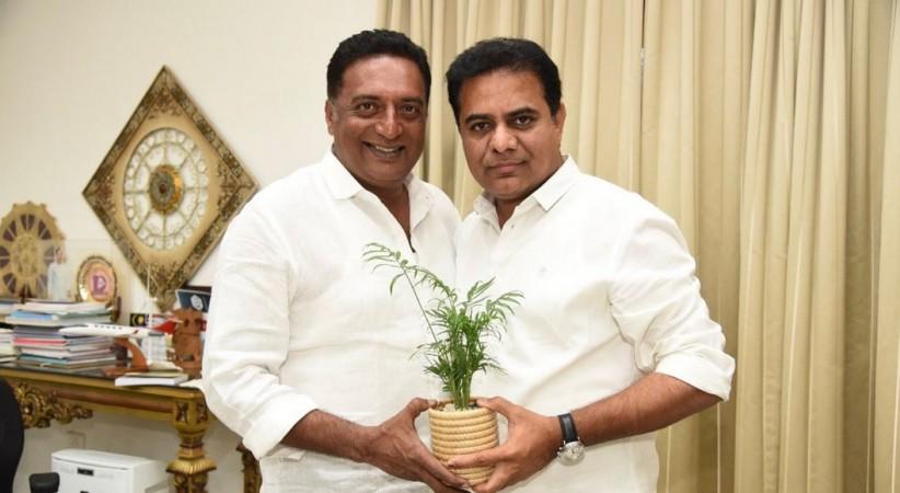 Actor Prakash Raj meets TRS president KTR aka KT Rama Rao