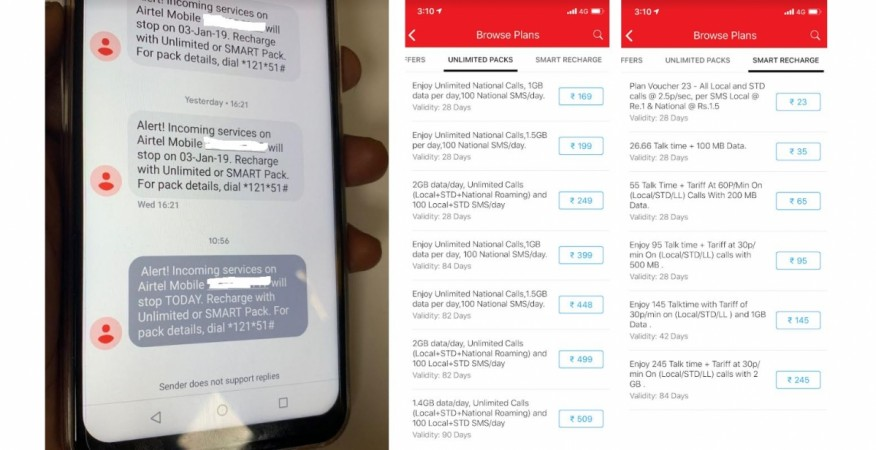 Airtel, low currency, service, deactivation