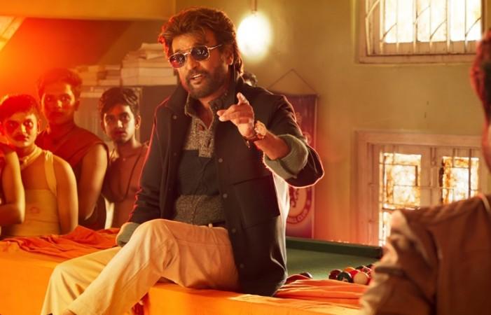 A stylish look of Rajinikanth in Petta