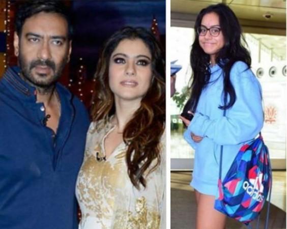 Ajay Devgn, Kajol and Nysa