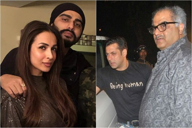 Arjun Kapoor, Malailka Arora, Salman Khan, Boney Kapoor