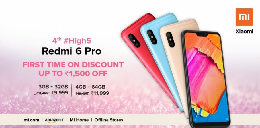 Xiaomi, Redmi 6 Pro, India, discount