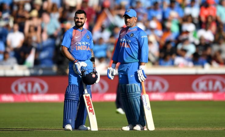 Virat Kohli MS Dhoni India cricket team