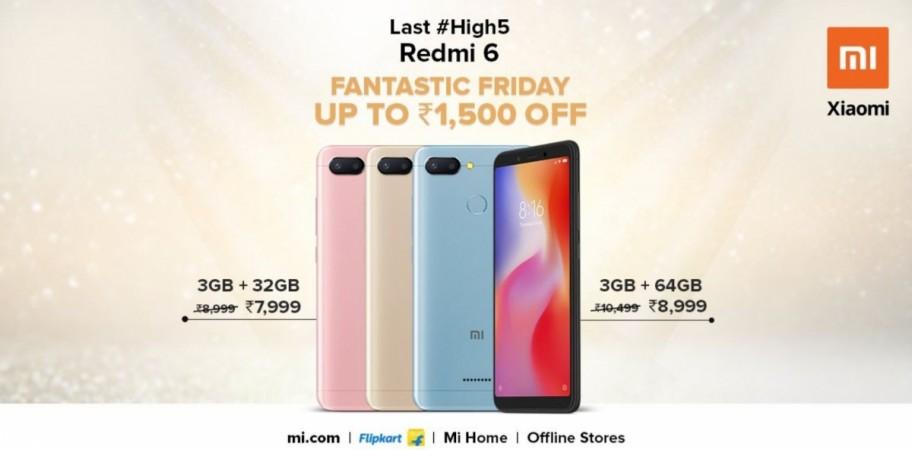 Xiaomi, Redmi 6, discount