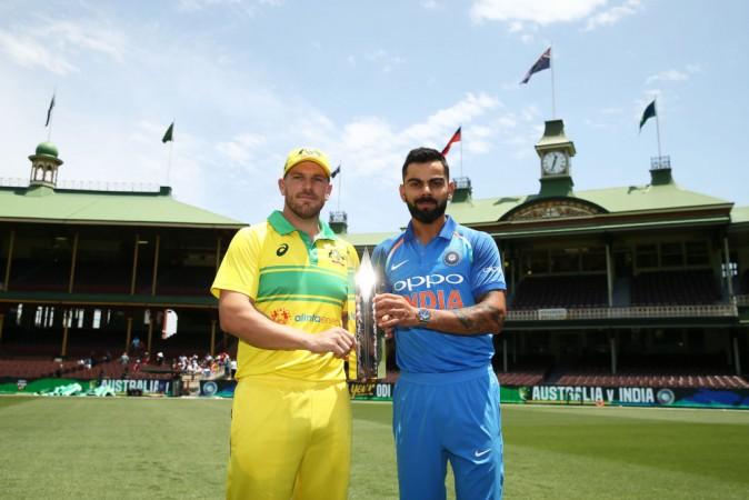 Virat Kolhi Aaron Finch India cricket team