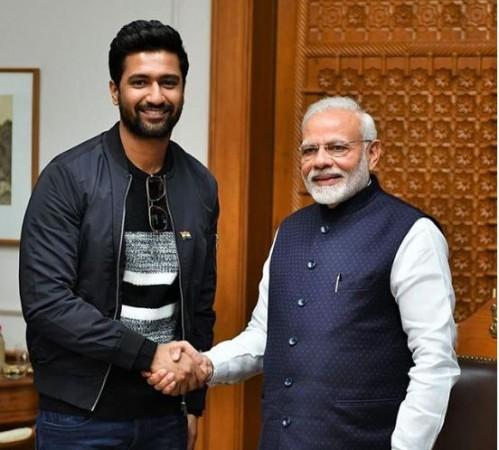 Vicky Kaushal with Narendra Modi