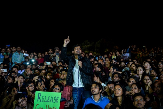 Indian student union leader Kanhaiya Kumar