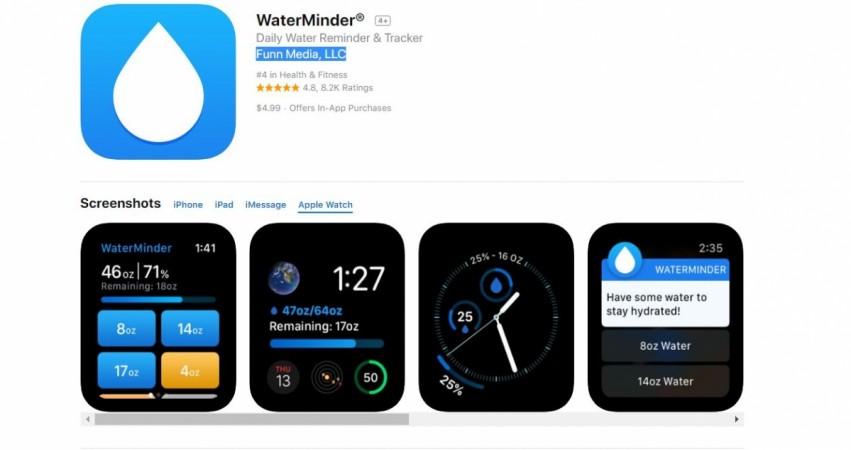 Apple, Watch, WaterMinder