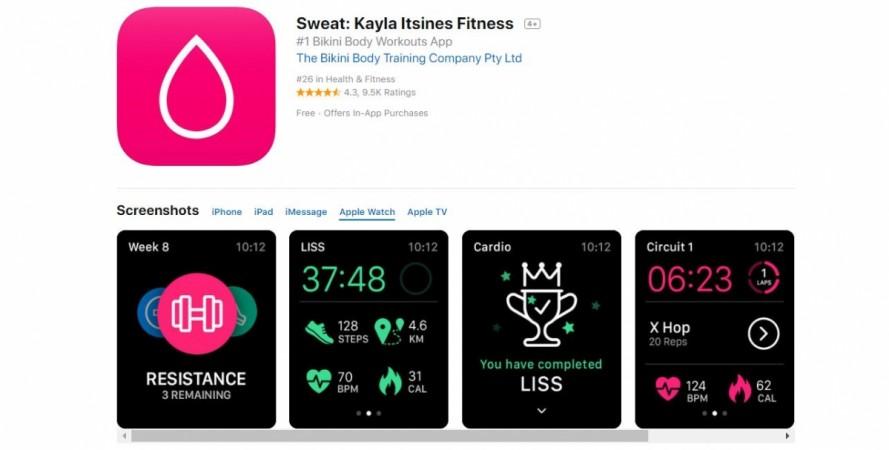 Apple, Watch, Sweat, Kayla Itsiness Fitness