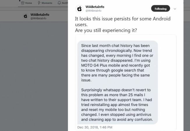 WhatsApp, backup, chat, history delete