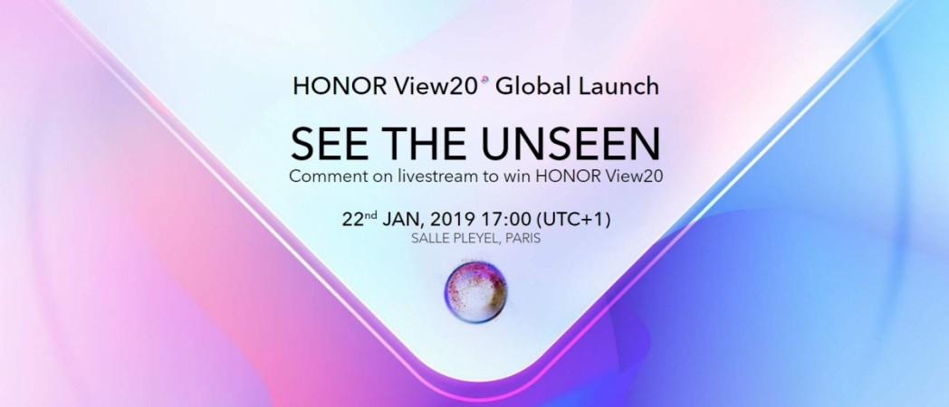 Honor View20, global,Amazon, India, launch,