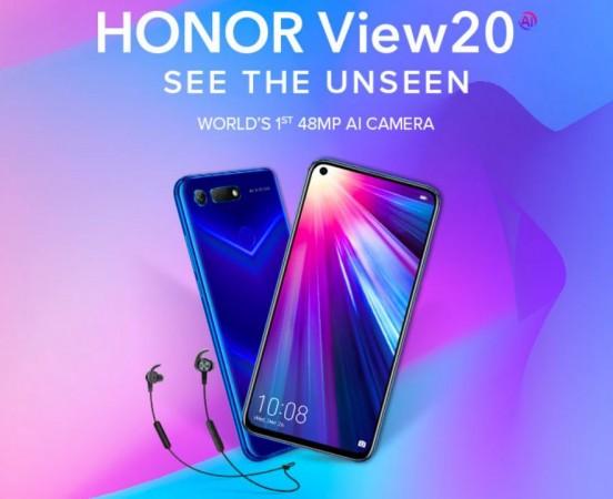 Honor View20, Amazon, India, launch,price