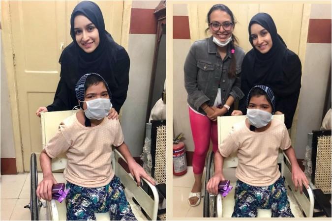 Shraddha Kapoor with her ill fan Summaya in Mumbai hospital