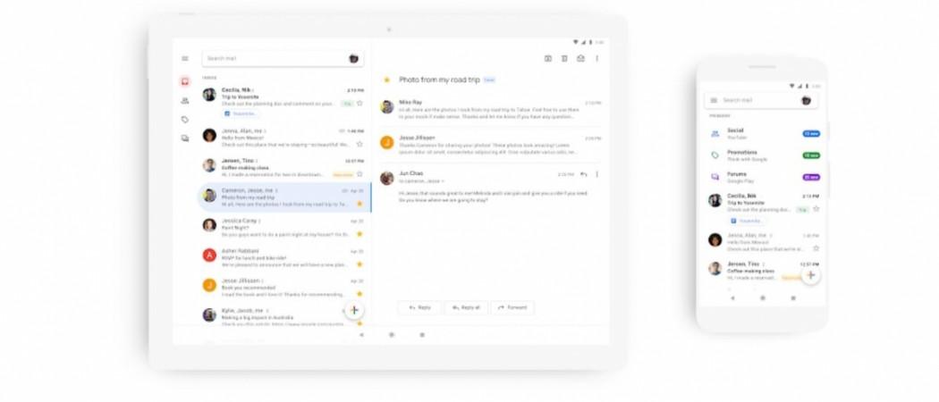 Gmail, mobile, material design,