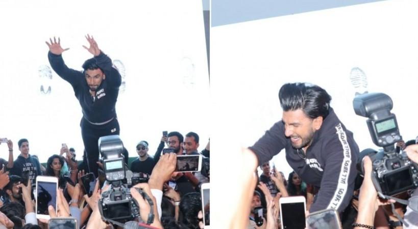 Ranveer Singh slammed for jumping on crowd