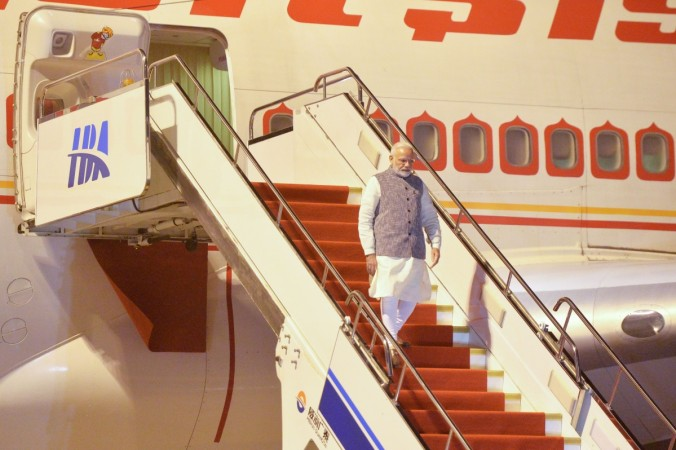 Modi air india aircraft