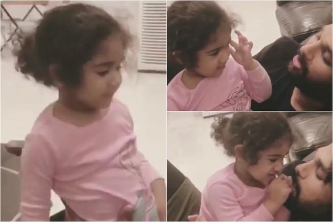 Allu Arjun cuddling his daughter Allu Arha