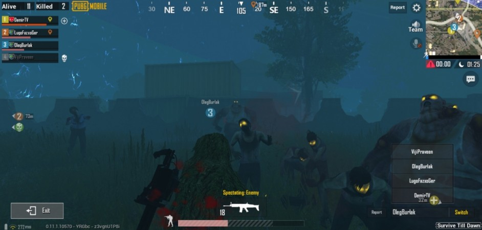 Pubg Mobile Update Servers Down: PUBG Mobile 0.11.0 Update With Zombie Mode Coming On Feb