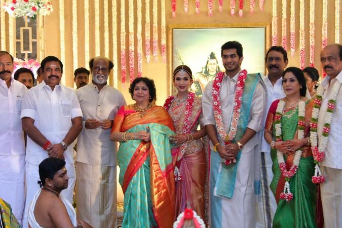 Chief Minister Palaniswami At Soundarya Rajinikanths Wedding