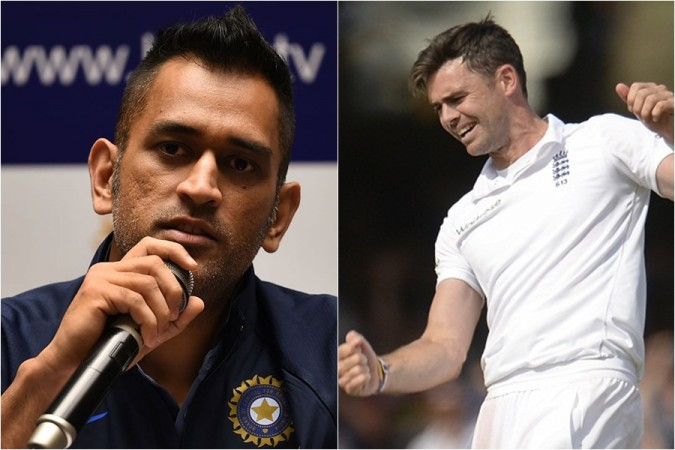 MS Dhoni James Anderson