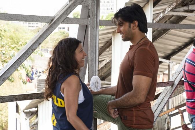 Zoya Akhtar and Ranveer Singh on Gully Boy sets
