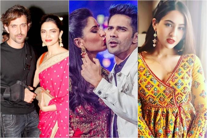 Hrithik Roshan, Deepika Padukone, Katrina Kaif, Varun Dhawan, Kartik Aaryan, Sara Ali Khan
