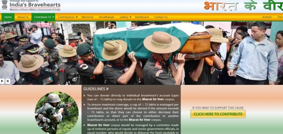 Bharat Ke Veer, corpus fund, help, military family