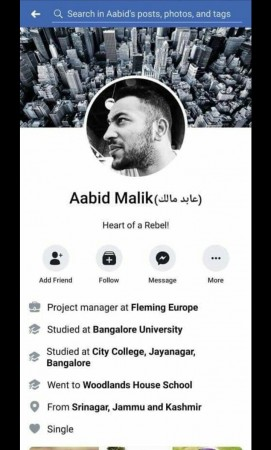 pulwama attack facebook post
