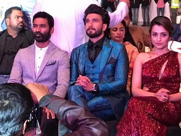 Ranveer Singh, Dhanush and Trisha at Asiavision Movie Awards 2018