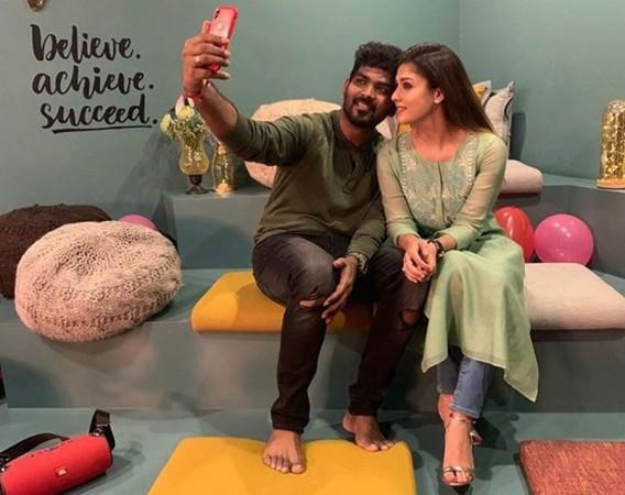 Nayanthara with her boyfriend Vignesh Shivan