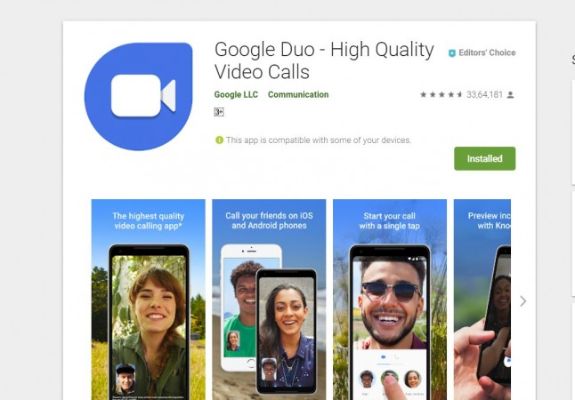 Google, Duo, video chat, app, play store