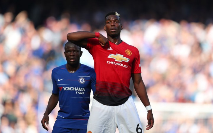 Paul Pogba N'Golo Kante Manchester United Chelsea