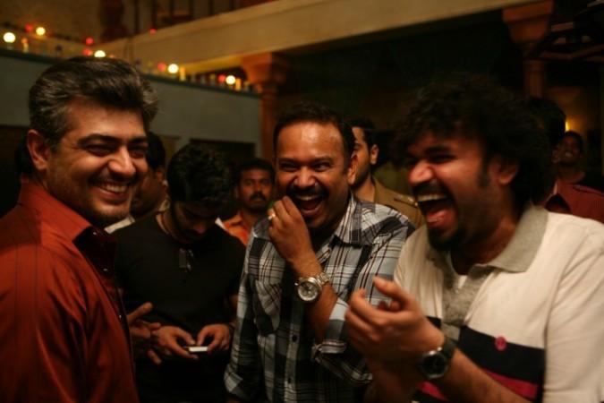 Venkat Prabhu with Ajith and Premji