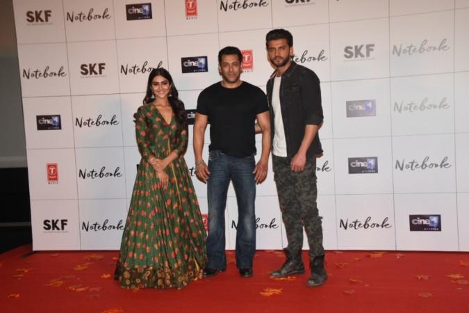 Salman Khan, Zaheer Iqbal, Pranutan Bahl, Notebook trailer