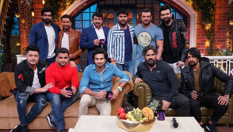 Sudeep and other celebs on The Kapil Sharma Show