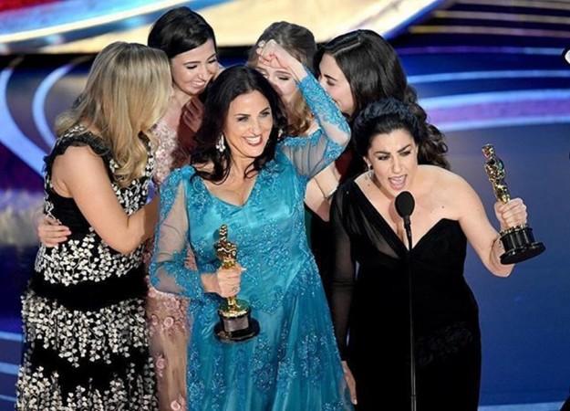 Rayka Zehtabchi and Melissa Berton receive Oscar Award