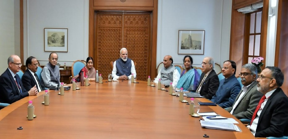 PM Narendra Modi holds cabinet security meeting