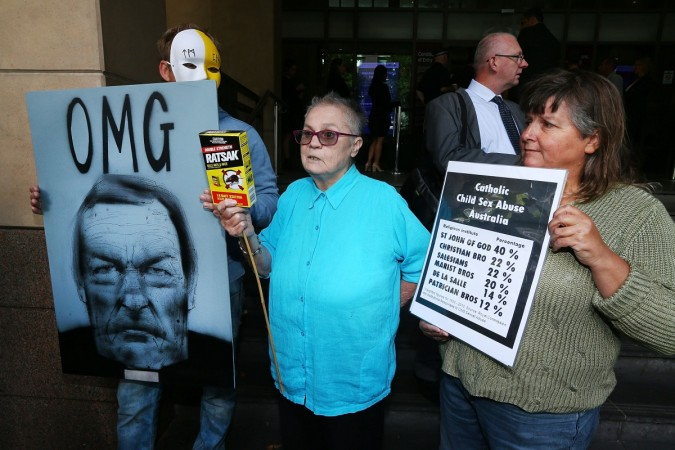 Cardinal George Pell sexual abuse protest