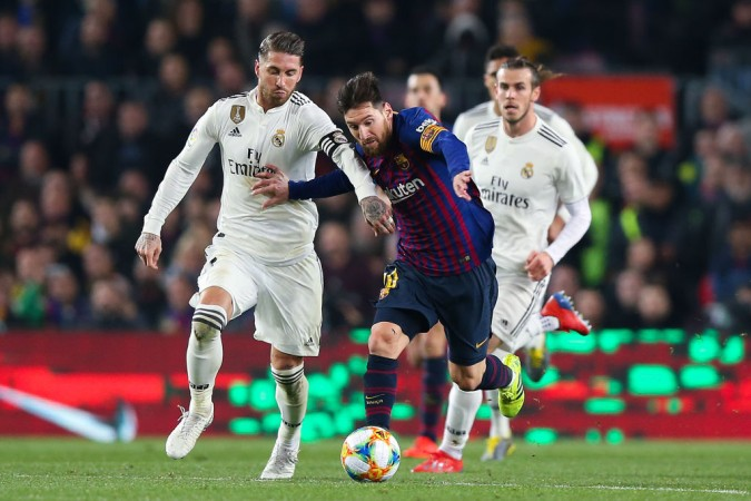 Lionel Messi Sergio Ramos Real Mardid vs Barcelona