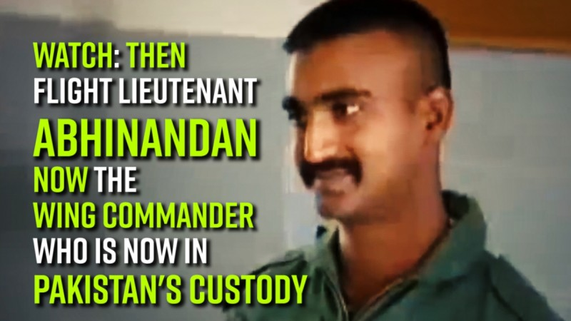 Watch: Then Flight lieutenant Abhinandan now the Wing Commander who is now in Pakistan's custody