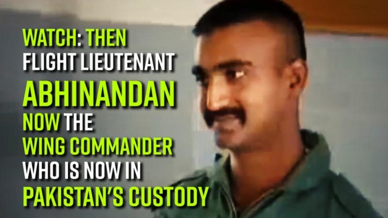 Watch: Then Flight lieutenant Abhinandan now the Wing Commander who is now in Pakistan's custody