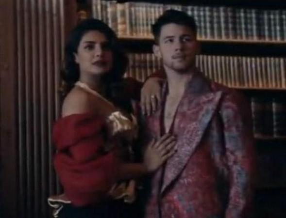 Priyanka Chopra and Nick Jonas in Sucker