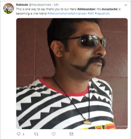 abhinandan varthman moustache 1