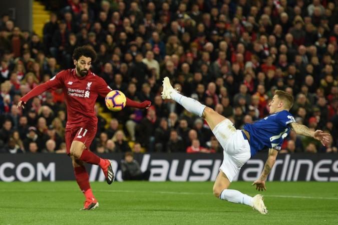 Mo Salah Lucas Digne Liverpool Everton