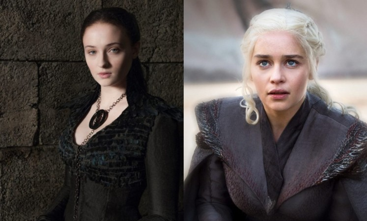 Sansa Stark and Daenerys Targaryen in Game of Thrones season 8