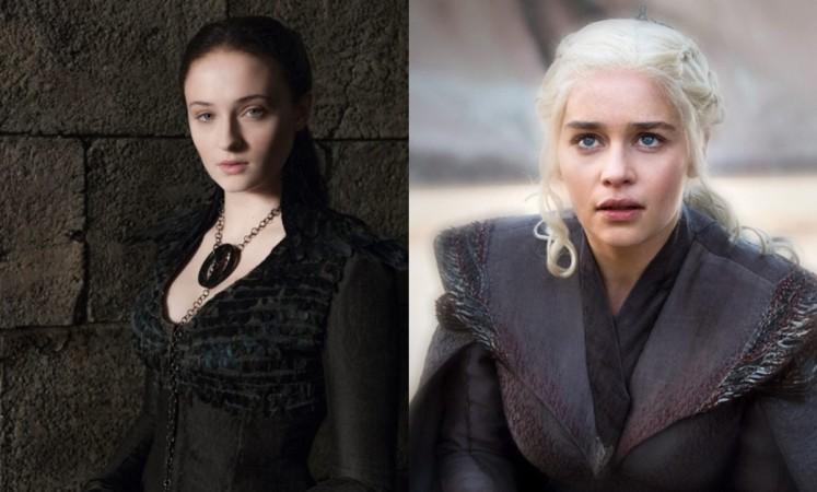 Sansa Stark and Daenerys Targaryen in Game of Thrones season 8