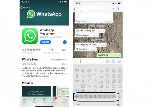 WhatsApp, iOS, iPhone, update